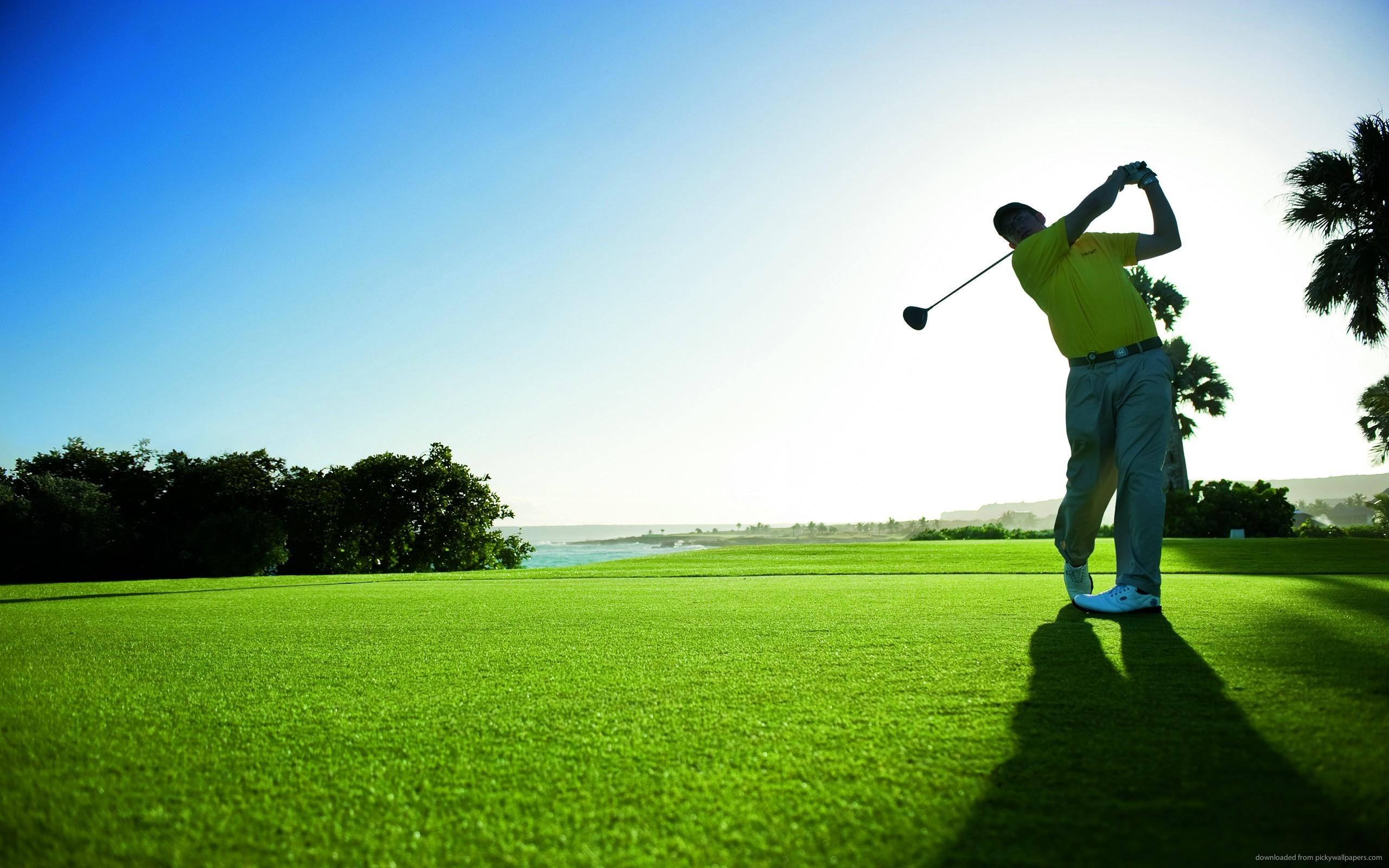 man-hits-the-golf-ball
